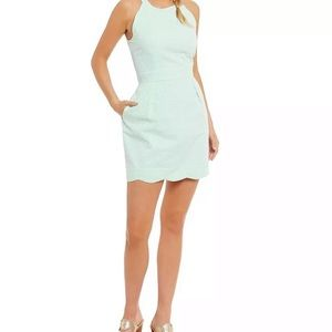 Lauren James Landry Stripe Dress Mint Green